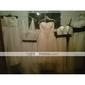 Skoleball / Formell kveld / Militærball Dress - Vintageinspirert / 1920-tallet A-linje / Prinsesse Stropper Ankellang Tyll medDrapering /