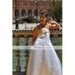 Linia -A Prințesă Trenă Court Rochie Fete Flori - Satin Fără manșon Bretele Spagheti cu Mărgele Aplică de LAN TING BRIDE®