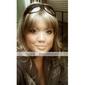 capless ekstra lang syntetisk gyllen blonde med lys blondt krøllete hår parykk