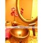 bronze huilé robinet d'évier cascade salle de bain avec bec verseur en verre