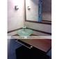 contemporaine robinet d'évier cascade salle de bain avec bec verseur en verre (hauteur)
