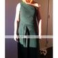 Coloană / Teacă Pe Umăr Lungime Podea Șifon Bal Seară Formală Bal Militar Rochie cu Cruce de TS Couture®