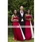 BRIGITA - Kleid für Hochzeitsfeier und Brautjungfer aus Satin