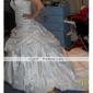 Robe de Mariée en Taffetas, Sans Bretelles, Perles Décoratives