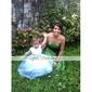 Lanting Bride Tot de knie Satijn Bruidsmeisjesjurk A-lijn / Prinses Strapless Grote maten / Petite met Strik(ken) / Sjerp / Lint