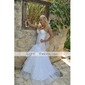 Trumpet/Mermaid Wedding Dress - Ivory Floor-length Sweetheart Satin/Organza