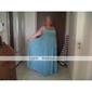 Lanting Sposa Lungo Chiffon Vestito da damigella Linea-A / Da principessa / A tubino Con bretelline Taglia forte / Minuta conFiocco