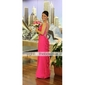 Prom/Military Ball/Formal Evening Dress - Fuchsia Plus Sizes Sheath/Column Straps Floor-length Chiffon
