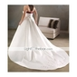 A-line/Princess Plus Sizes Wedding Dress - Ivory & Ruby (color may vary by monitor) Chapel Train Strapless Satin