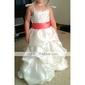 Стильное платье из тафты, с цветочным принтом, для девочек