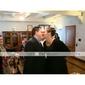 Lanting Bride® Mi-long Mousseline de soie Robe de Demoiselle d'Honneur - Trapèze Bretelles Grande Taille / Petite avec Plissé