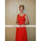 Formal Evening / Military Ball Dress - Elegant Plus Size / Petite A-line / Princess V-neck / Straps Floor-length Chiffon withBeading /