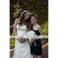 organza élégante / satin avec perle d'imitation ronds bouquet de mariage / mariée bouquet