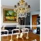 bylte kristallkrona + 6 lampor - antik design med elektrofores guld finish
