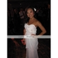 Sheath/Column Plus Sizes Wedding Dress - Ivory Floor-length Sweetheart Chiffon