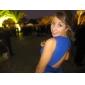 프롬/밀리터리 볼/저녁 정장파티 드레스 - 화이트 시스/컬럼 바닥 길이 V넥 쉬폰 플러스 사이즈