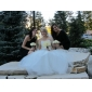 Ball Gown Plus Sizes Wedding Dress - Ivory Floor-length Sweetheart Organza