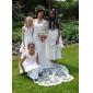 웨딩 드레스 - 아이보리(색상은 모니터에 따라 다를 수 있음) 시스/컬럼 스위프/브러쉬 트레인 사각형 사틴/레이스 플러스 사이즈