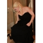 Formal Evening Dress Plus Sizes A-line/Princess Strapless/Sweetheart Court Train Chiffon