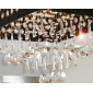 Crystal Chandelier with 9 lights (Chrome Finish)