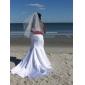 Lanting Bride® Sereia Pequeno / Tamanhos Grandes Vestido de Noiva - Clássico e atemporal / Chique e Moderno Vestidos Noiva de CorCauda