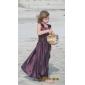 A-line podea lungime floare fata rochie - taffeta gât pătrat de lan ting bride®