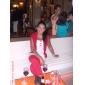 Coloană / Teacă Lungime Podea Șifon Rochie Domnișoară Onoare cu Drapat Ruching Pliuri de LAN TING BRIDE®