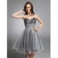 Cocktail Party/Prom/Sweet 16/Holiday Dress - Silver Plus Sizes A-line/Princess Sweetheart/Spaghetti Straps Knee-length