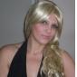 Long European Weave Light Blonde With Golden Brown Hair Wig