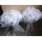 organza élégant / satiné avec bouquet rond de mariage en cristal / bouquet de mariée (0986-sph7)