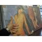 käsinmaalattu öljymaalaus Jeanne Hebuterne by Modigliani kanssa venytetty kehyksen