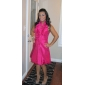 Homecoming Cocktail Party/Holiday Dress - Pool Plus Sizes A-line/Princess Halter/V-neck Knee-length Taffeta