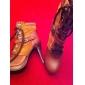 mockaskinn stilettklack boots med spänne fest / kväll skor fler färger
