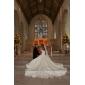 rochie de bal off-the-umăr Capela de tren satin brodat rochie de mireasa (wsm0447)