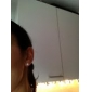 14k Gold White 6.5-7mm AAAA Freshwater Pearl Earring