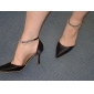 Satin Upper Stiletto Heel With Rhinestone Wedding Sandals More Colors Available