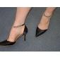 satin övre stilett häl med rhinestone bröllop sandaler fler färger