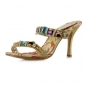 Leatherette Upper Stiletto Heel Sandals With Rhinestone Party/ Evening Shoes