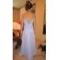 Floor-length Chiffon Junior Bridesmaid Dress - Blushing Pink Sheath/Column Spaghetti Straps