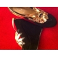 Suede Upper Wedge Heel Closed Toe With Flower Party/ Evening Shoes