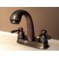 antikke inspireret 4 tommer håndvasken vandhane - poleret messing overflade