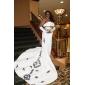 Trumpet/Mermaid Wedding Dress - Ivory Chapel Train Strapless Taffeta