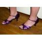 satinée supérieure coloré chaussures de danse latine chaussures pratique de bal pour les femmes