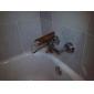 zeitgenössische Messing Badewanne Wasserhahn mit Glasauslauf (Wandmontage)