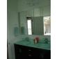 rubinetto lavabo bagno design contemporaneo cascata (finitura cromata)