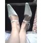 högsta kvalitet satin upperlow häl slutna-tår med skor rhinestone bröllop / skor brud. fler färger