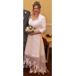Lanting Bride A-line / Princess Petite / Plus Sizes Wedding Dress-Asymmetrical V-neck Organza