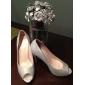 satin övre stilettklack pumpar med rhinestone bröllop / fest shoes.more färger