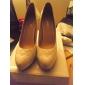 Schaffell oberen High Heel Peeptoes Schuhe