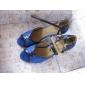 tyg övre med konstläder bälte dansskor balsal latinska skor för kvinnor